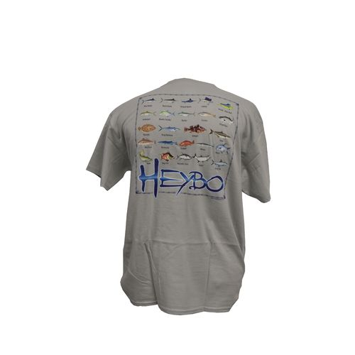 Heybo adults 39 fish chart cotton t shirt academy for Fish onesie for adults