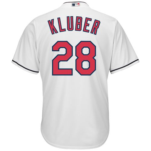 Majestic Men's Cleveland Indians Corey Kluber #28 Cool Base® Home Jersey - view number 1
