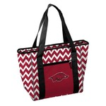Logo Chair University of Arkansas 30-Can Chevron Cooler Tote Bag