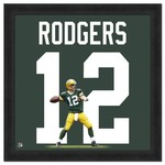 "Photo File Green Bay Packers Aaron Rodgers #12 UniFrame 20"" x 20"" Framed Photo"