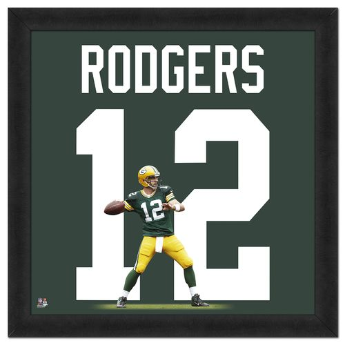 Photo File Green Bay Packers Aaron Rodgers #12 UniFrame 20' x 20' Framed Photo
