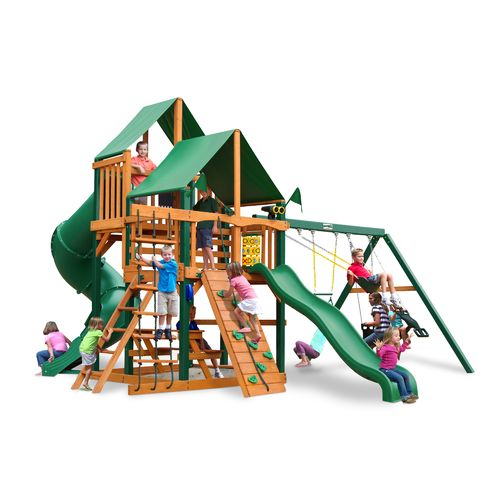 Gorilla Playsets™ Great Skye I Swing Set With Timber Shield™ And Deluxe  Vinyl Canopy