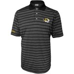 Majestic Men's University of Missouri Section 101 Heather Stripe Golf Polo Shirt