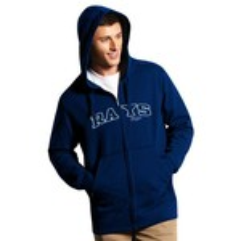 Antigua Men's Tampa Bay Rays Signature Full Zip Hoodie