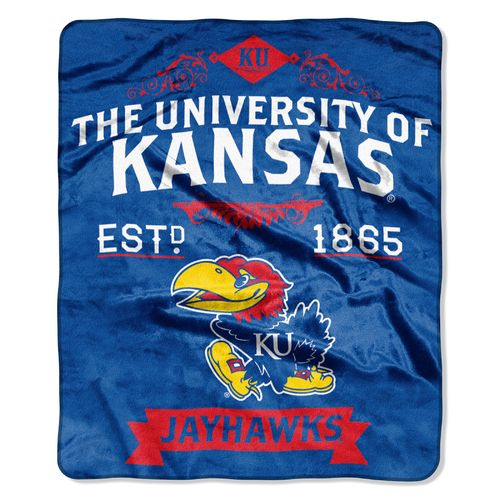 The Northwest Company University of Kansas Label Raschel Throw