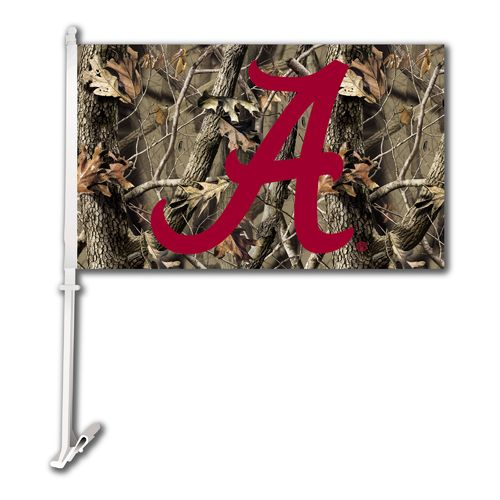 BSI University of Alabama Realtree 2-Sided Car Flag