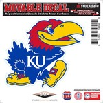 "Stockdale University of Kansas 6"" x 6"" Decal"