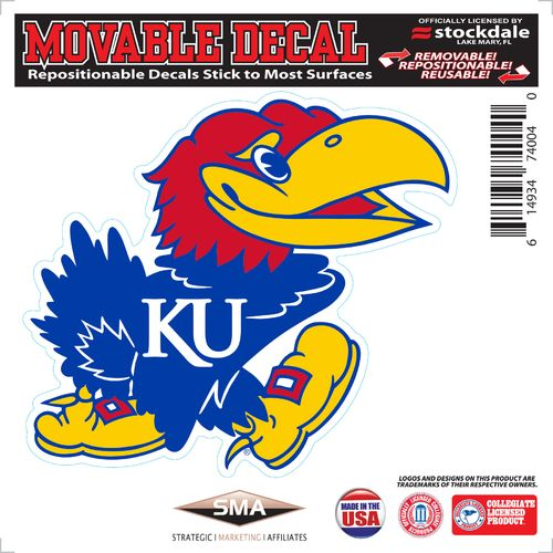 Stockdale University of Kansas 6' x 6' Decal