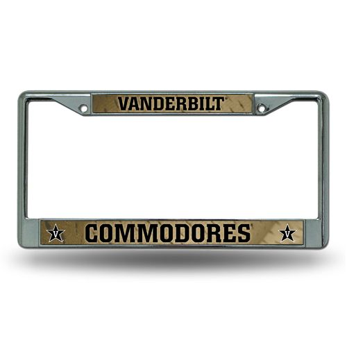 Rico Vanderbilt University Chrome License Plate Frame
