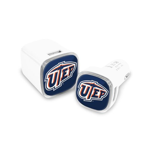 Mizco University of Texas at El Paso USB Chargers 2-Pack