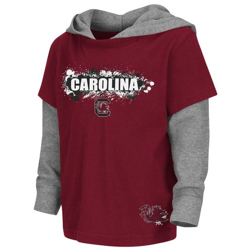 Colosseum Athletics Toddler Boys' University of South Carolina Splatter Hooded T-shirt