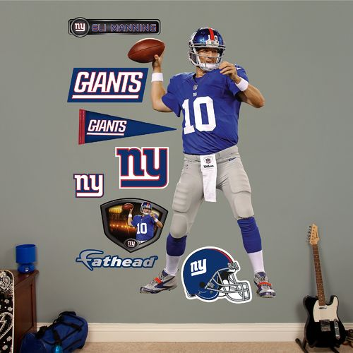 Fathead New York Giants Eli Manning Home Real