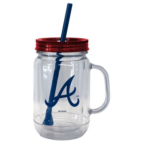 Boelter Brands Atlanta Braves 20 oz. Handled Straw Tumblers 2-Pack