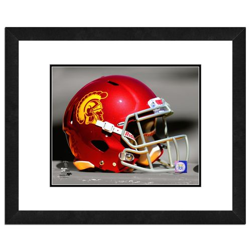Photo File University of Southern California Helmet 16' x 20' Matted and Framed Photo