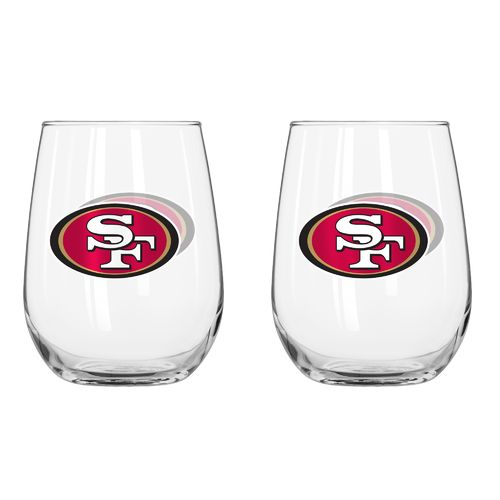 Boelter Brands San Francisco 49ers 16 oz. Curved Beverage Glasses 2-Pack