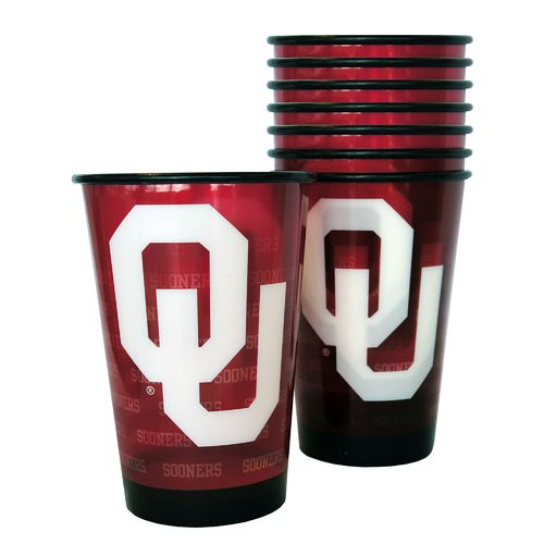 Boelter Brands University of Oklahoma 20 oz. Souvenir Cups 8-Pack - view number 1
