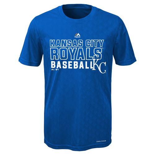 Majestic Boys' Kansas City Royals Geo Plex Cool Base Short Sleeve T-shirt