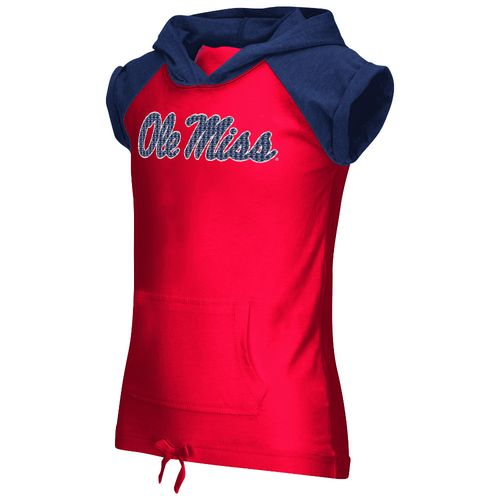 Colosseum Athletics Girls' University of Mississippi Jewel Short Sleeve Hoodie