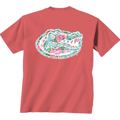 New World Graphics Women's University of Florida Floral T-shirt
