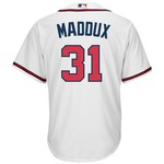 Majestic Men's Atlanta Braves Greg Maddux #31 Cool Base Home Replica Jersey