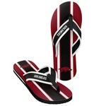 Forever Collectibles™ Men's University of Arkansas 2016 Contour Stripe Flip-Flops