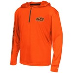 Colosseum Athletics™ Boys' Oklahoma State University Sleet 1/4 Zip Hoodie Windshirt