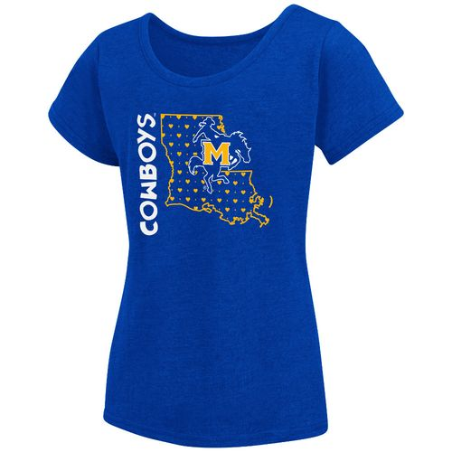Colosseum Athletics Girls' McNeese State University T-shirt