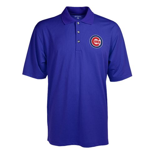 Antigua Men's Chicago Cubs Phoenix Pointelle Polo Shirt