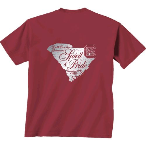 New World Graphics Women's University of South Carolina Silver State Distress T-shirt