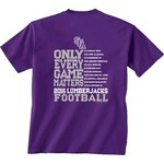 New World Graphics Men's Stephen F. Austin State University Schedule T-shirt