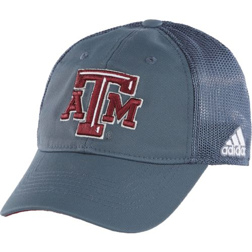adidas™ Men's Texas A&M University Coach Flex Mesh Back Slope Cap