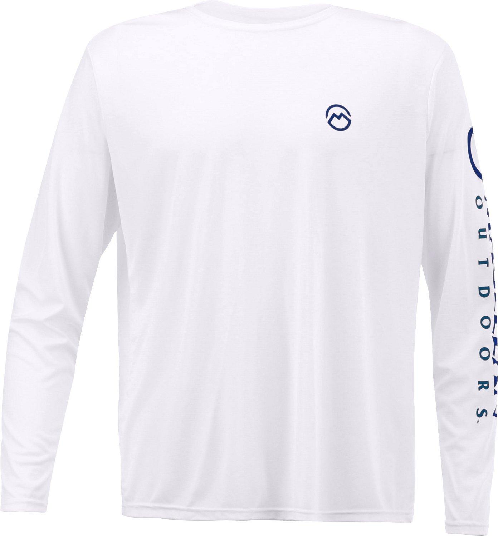cbc184cc683 Magellan Outdoors Menu0027s Casting Crew Moisture Management Long Sleeve  Shirt (White Size XX Large Sc 1 St Gun.Deals