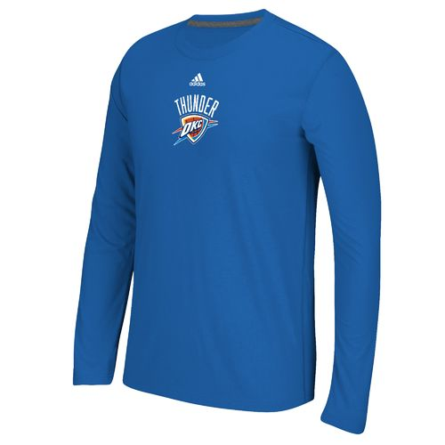 adidas Men's Oklahoma City Thunder Team Logo Long Sleeve T-shirt
