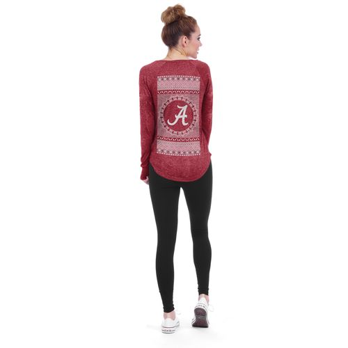 Chicka-d Women's University of Alabama Favorite V-neck Long Sleeve T-shirt