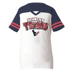 5th & Ocean Clothing Girls' Houston Texans Zebra Stripe Fan T-shirt
