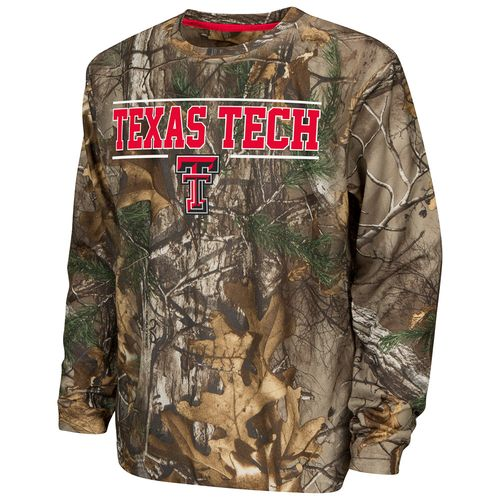 Colosseum Athletics™ Boys' Texas Tech University Pointer Long Sleeve Camo Shirt