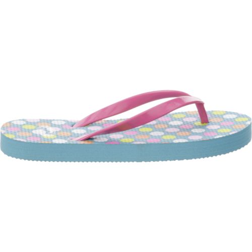 O'Rageous Girls' Glitter Strap Thong Flip-Flops - view number 1