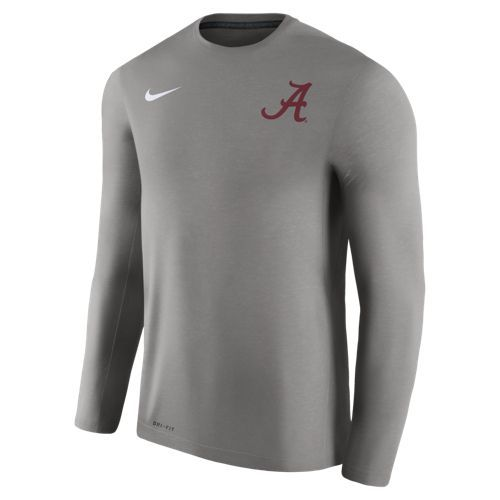 Nike Men's University of Alabama Dry Top Coaches Long Sleeve T-shirt