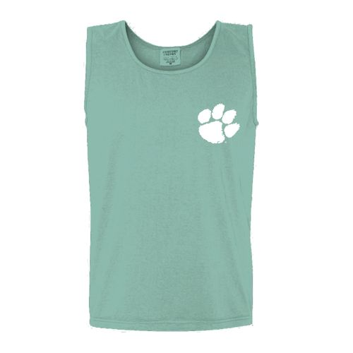 New World Graphics Women's Clemson University Circle Flowers Tank Top - view number 2