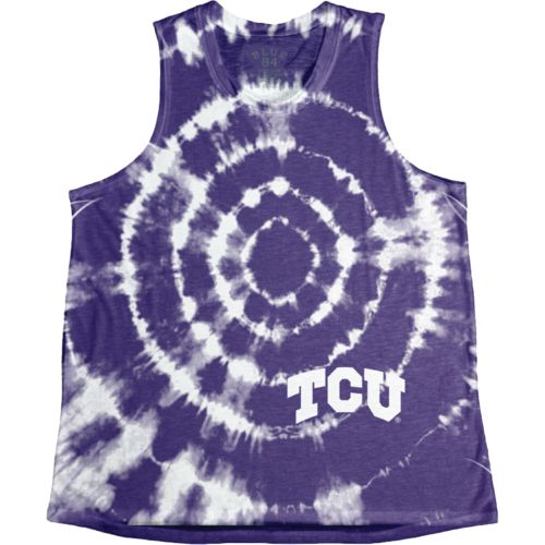 Blue 84 Women's Texas Christian University Retro Liquid Muscle Tank Top