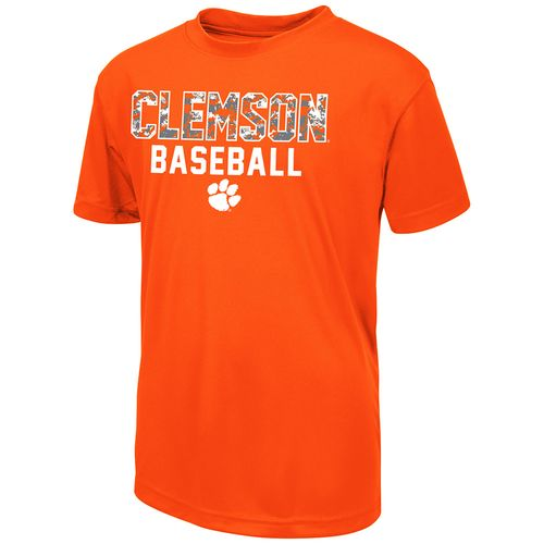 Colosseum Athletics Boys' Clemson University Digi Camo Baseball T-shirt