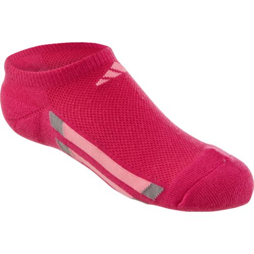 adidas Girls' Vertical Stripe No-Show Socks - view number 1