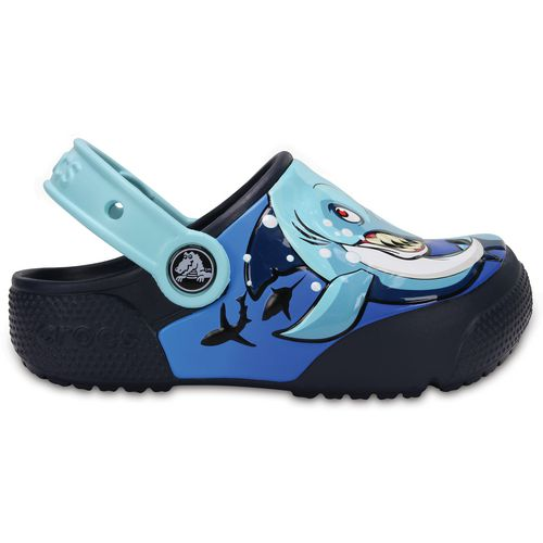 Crocs Boys' Fun Lab Shark Lights Clogs