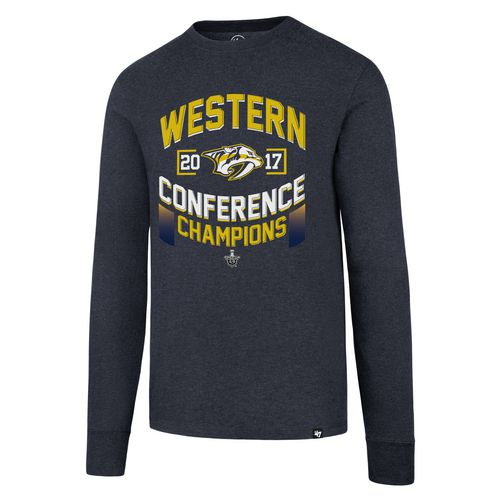 '47 Men's Nashville Predators 2017 NHL Western Conference Champs Long Sleeve Club T-shirt