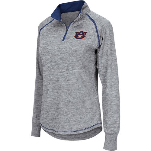 Colosseum Athletics Women's Auburn University Bikram 1/4 Zip Long Sleeve T-shirt