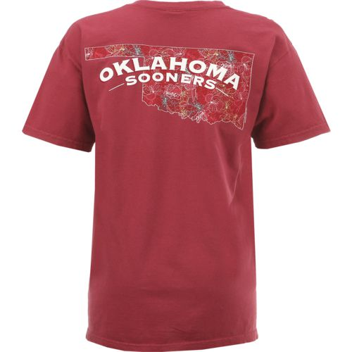 New World Graphics Women's University of Oklahoma Comfort Color Puff Arch T-shirt