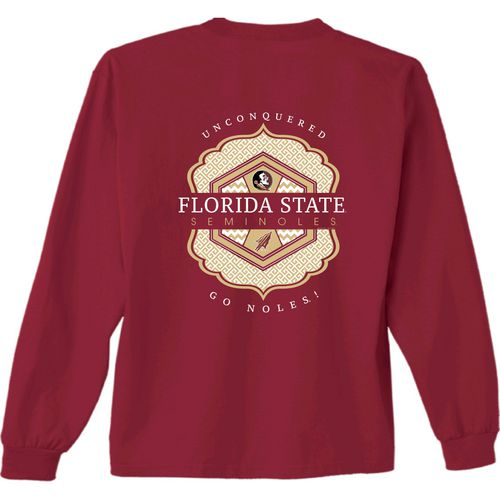 New World Graphics Women's Florida State University Faux Pocket Long Sleeve T-shirt