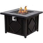 Bali Outdoors 35 in Square Cast Tabletop Gas Fire Pit - view number 2