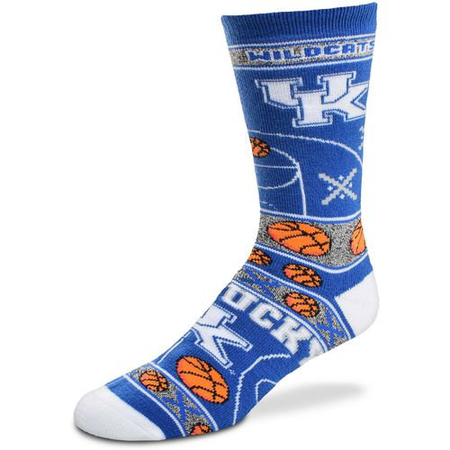 For Bare Feet Men's University of Kentucky Super Fan Crew Socks