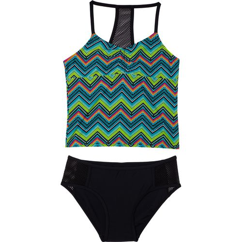 O'Rageous Girls' Chevron Mix 2-Piece Tankini